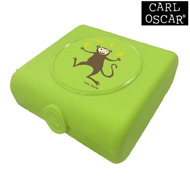 Madkasse til børn Carl Oscar Sandwich Box Green Monkey