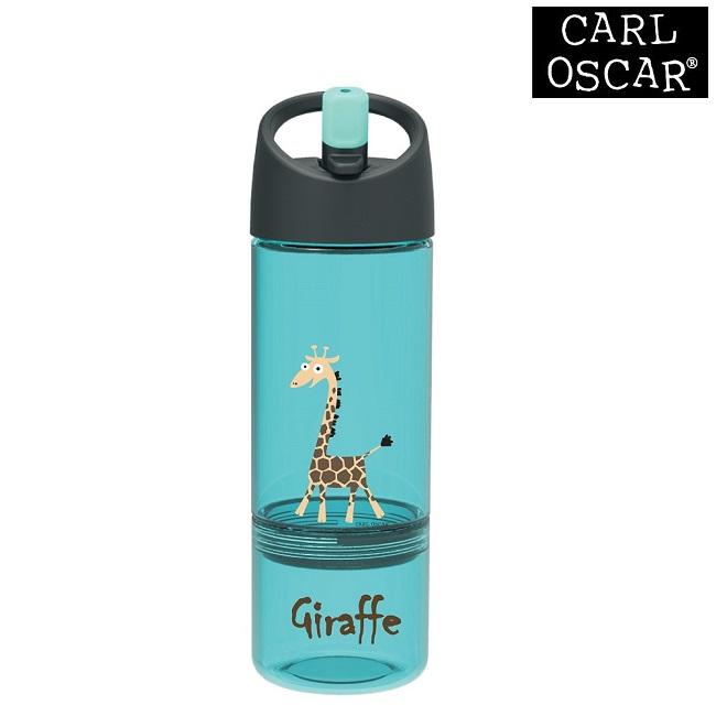 Drikkedunk til børn med snackkop Carl Oscar Blue Giraffe