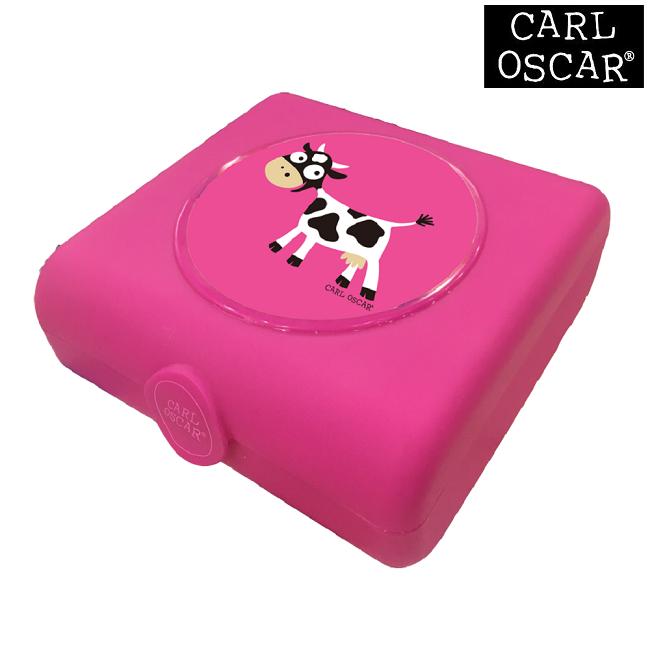Madkasse til børn Carl Oscar Sandwich Box Pink Cow