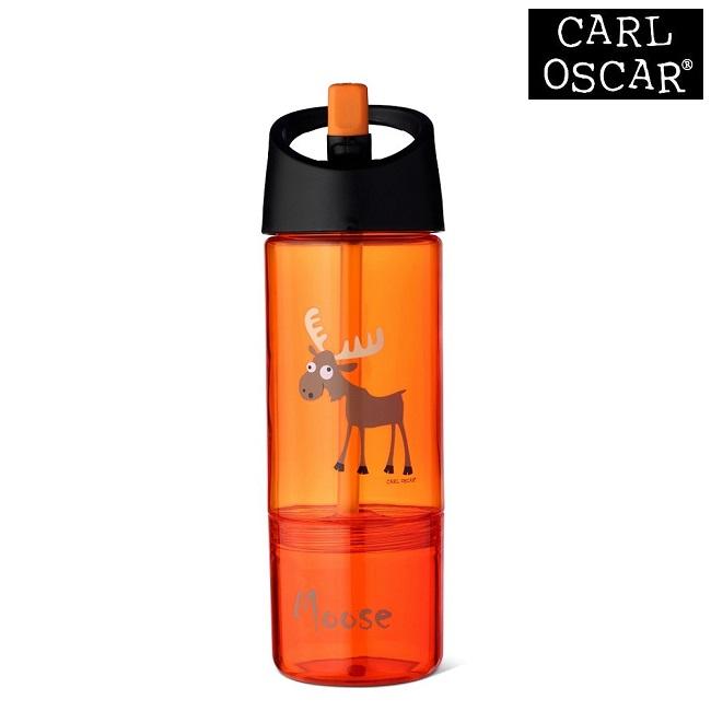Drikkedunk til børn med snackkop Carl Oscar Orange Moose