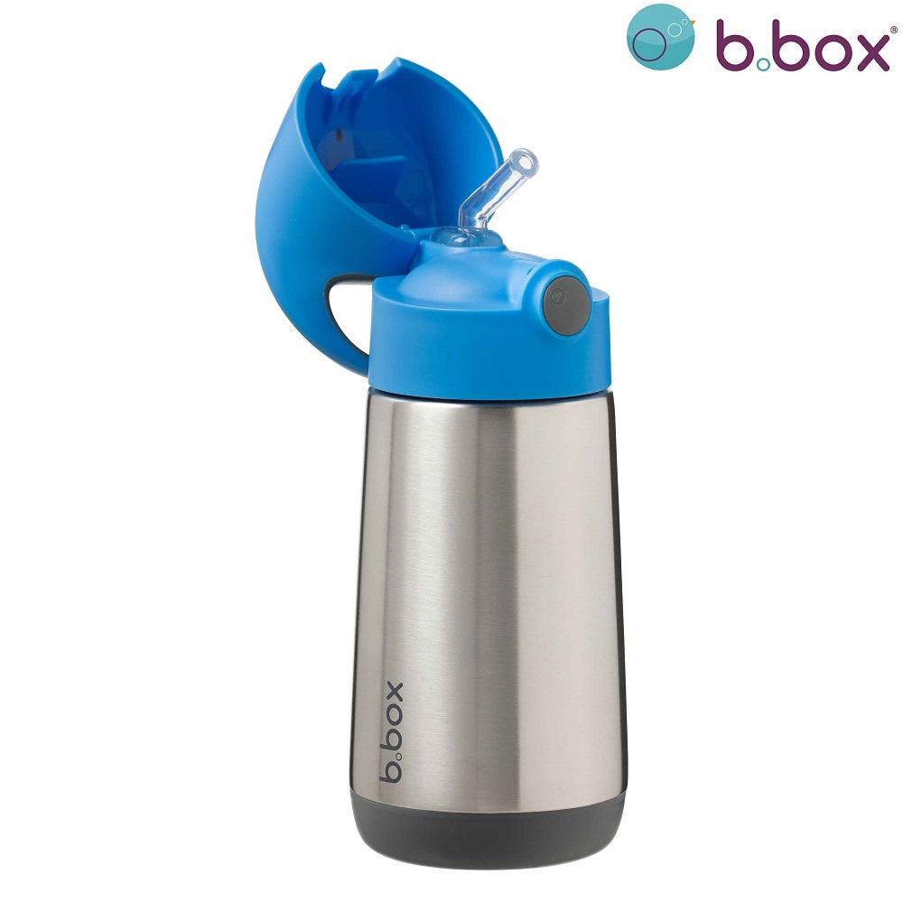 Termo drikkedunk med sugerør til børn B.box Blue Slate