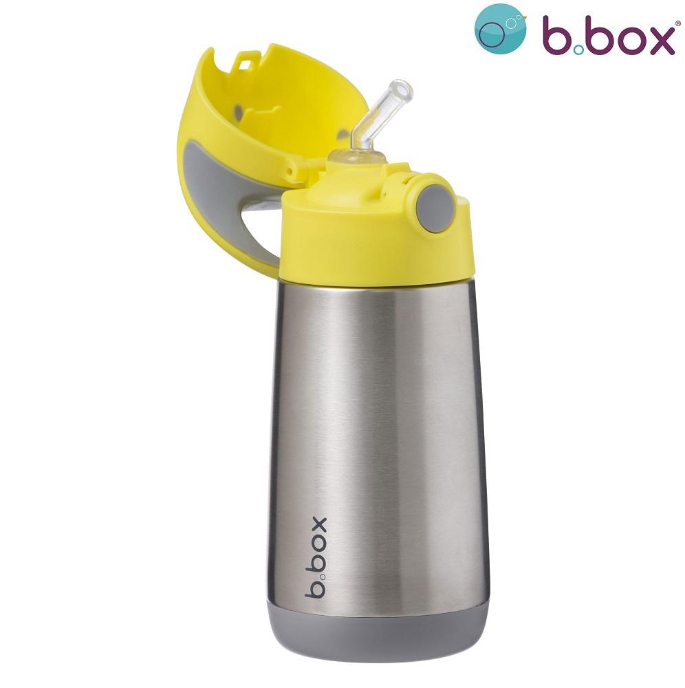 Termo drikkedunk med sugerør til børn B.box Lemon Sherbet