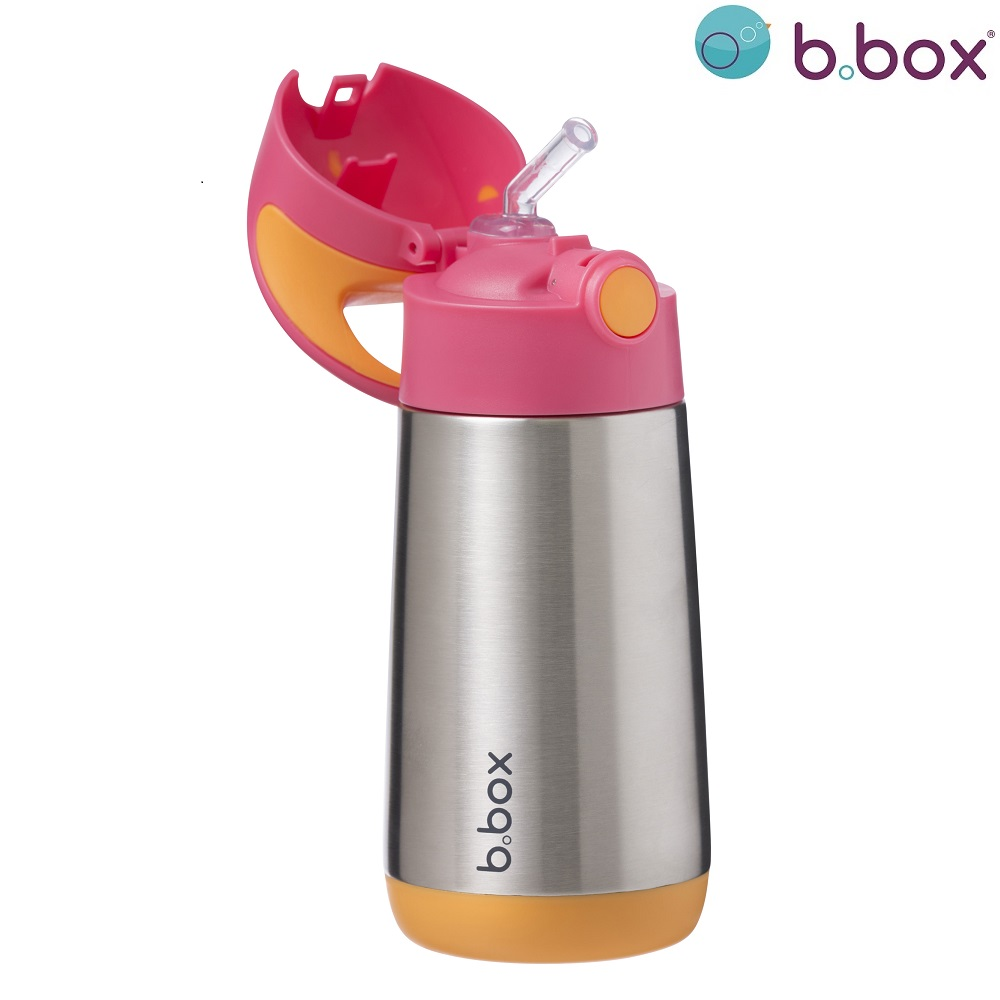Termo drikkedunk med sugerør til børn B.box Strawberry Shake