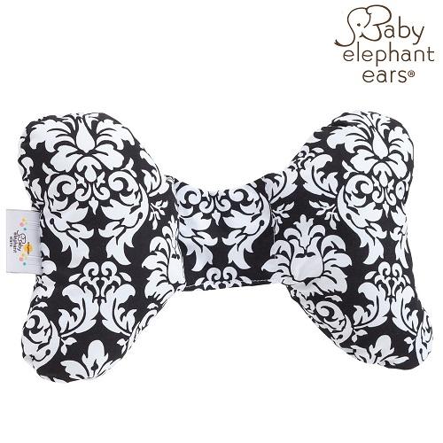Nakkepude til baby Baby Elephant Ears Black Dandy Damask