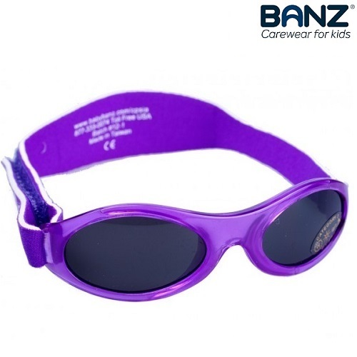 Solbriller til baby BabyBanz Purple