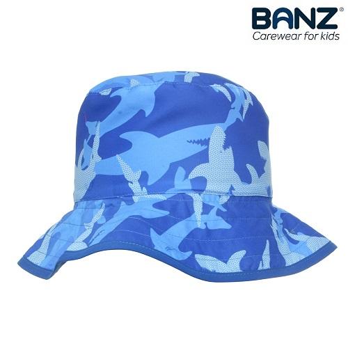UV solhat til børn Babybanz blå haj