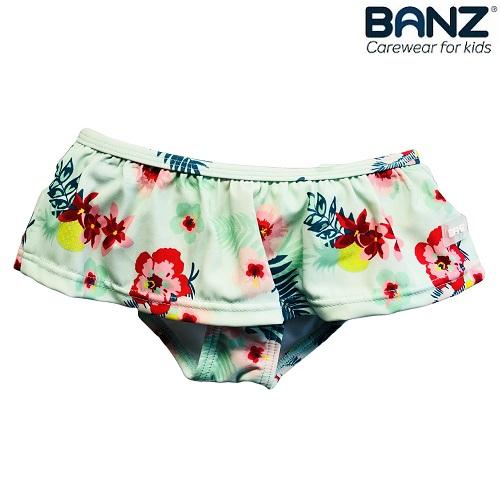 Badebukser til børn og baby Banz Mint Floral