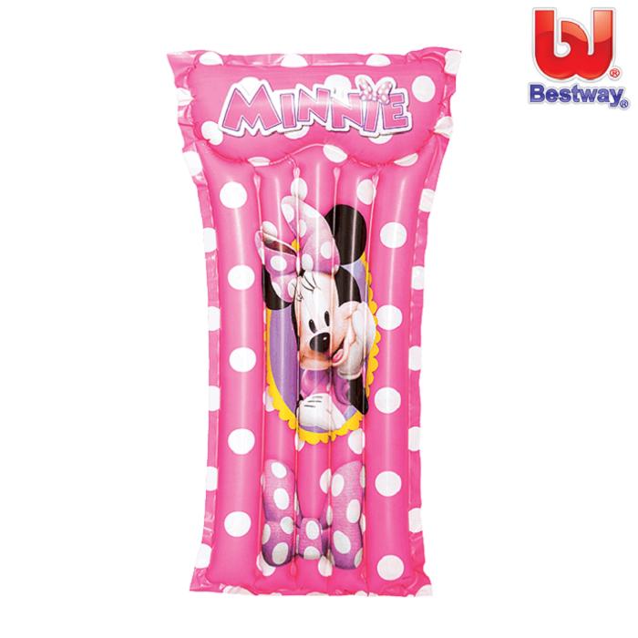 Bade luftmadras til børn Minnie Mus lyserød