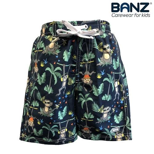 Svømme shorts til børn Banz Navy Jungle