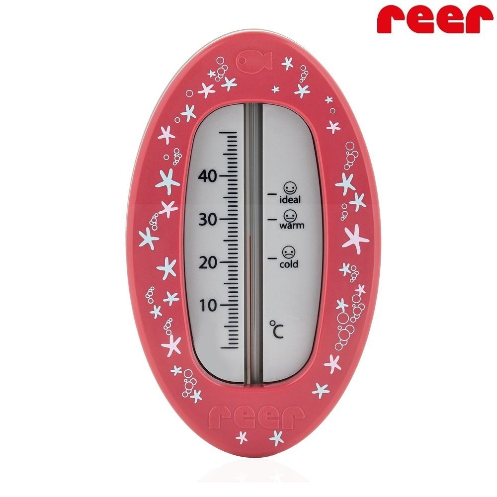 Badtermometer baby Reer Oval Red