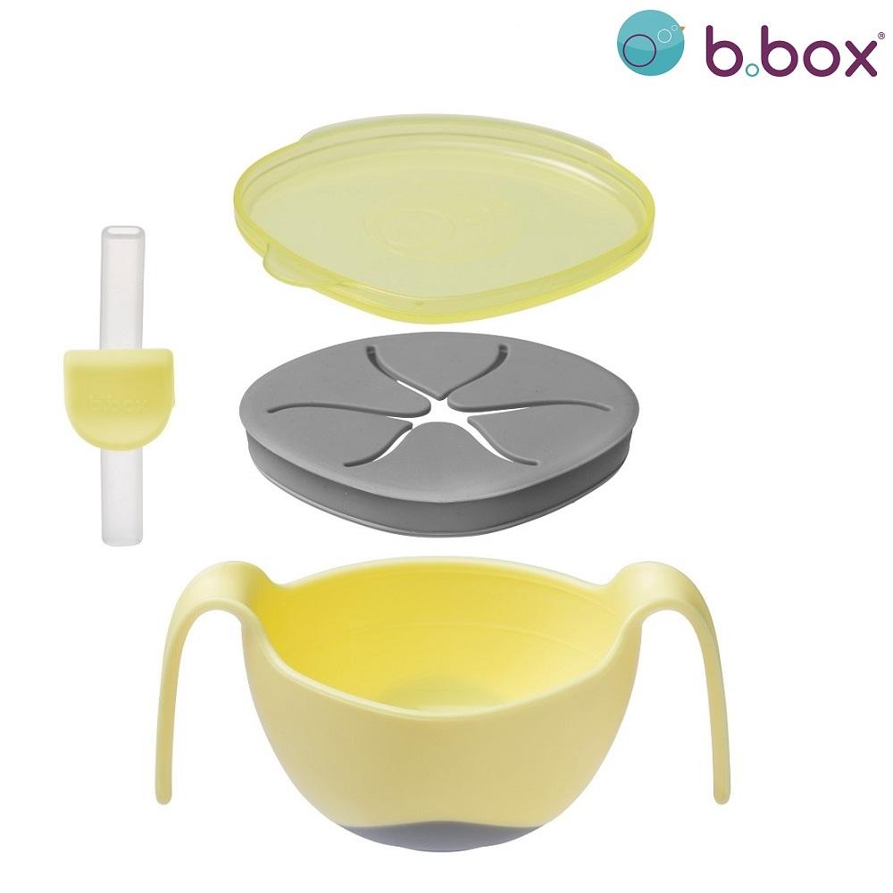 Madskål til børn B.box Bowl and Straw Banana Split