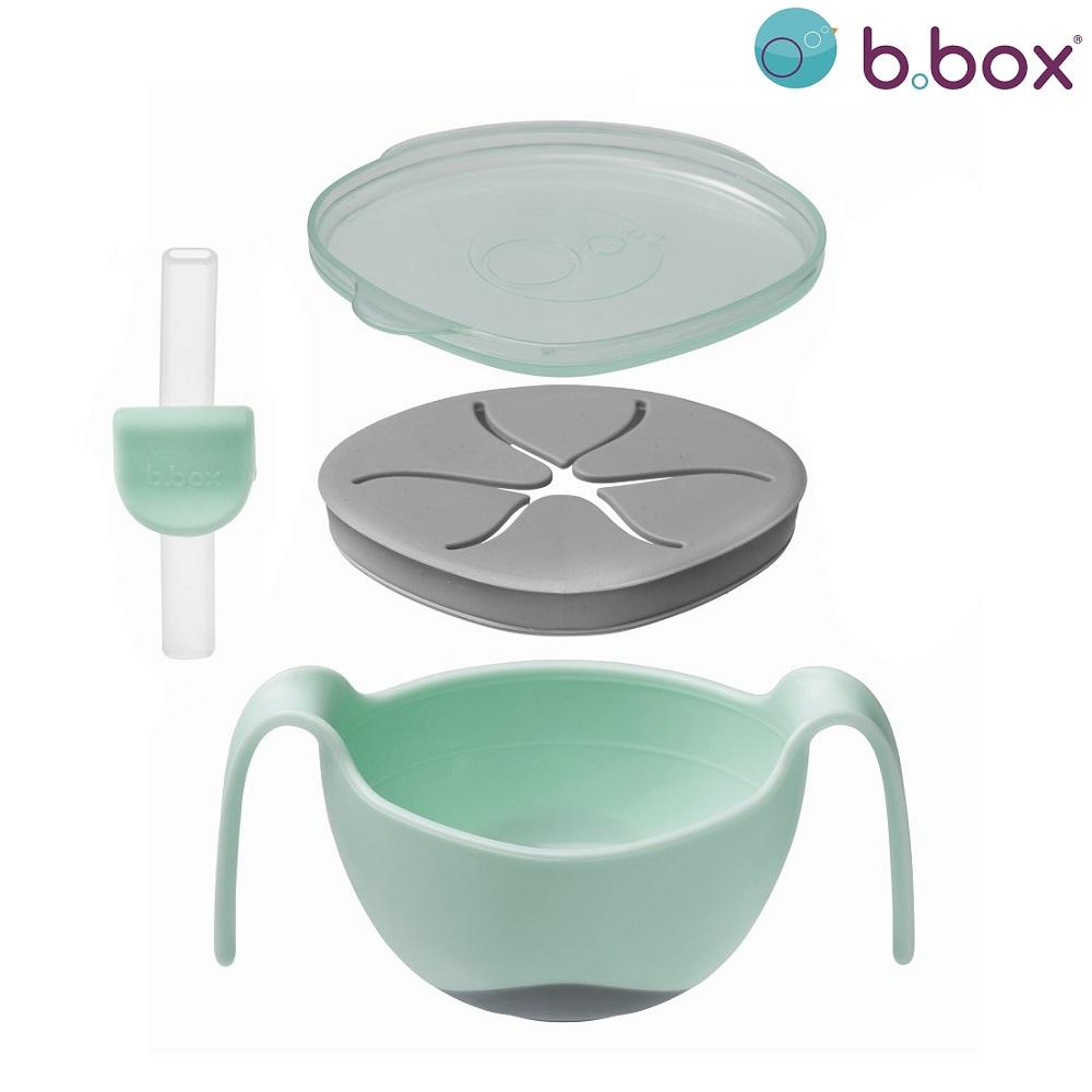 Madskål til børn B.box Bowl and Straw Pistachio grøn