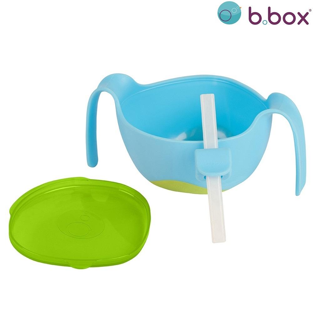 Madskål til børn B.box Bowl and Straw XL Ocena Breeze