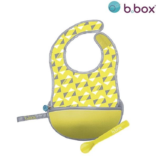 Hagesmæk med ske B.box Travel Bib Pine Splice