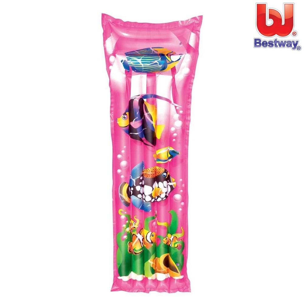 Bade luftmadras til børn Bestway Tropical lyserød