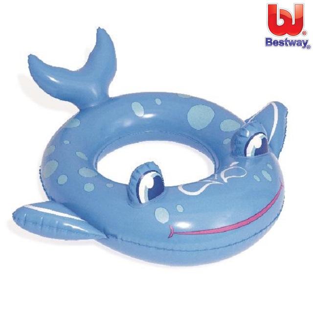 Oppusteligt badedyr Bestway Blå hval
