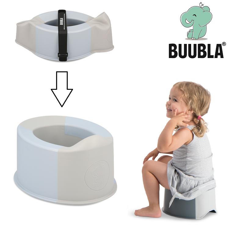 Sammenfoldelig rejsepotte Buubla lyseblå