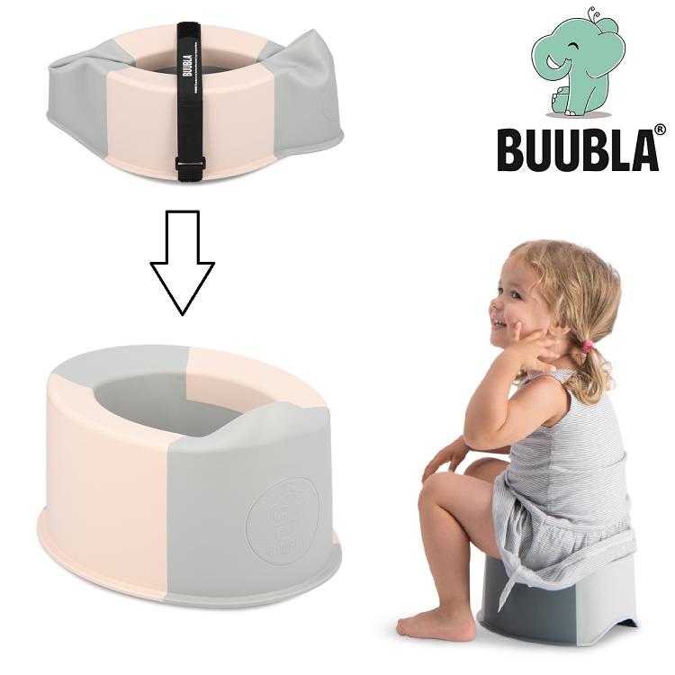 Sammenfoldelig rejsepotte Buubla lyserød