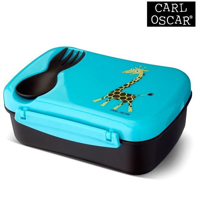 Termo madkasse med ske til børn Carl Oscar Nice Box Kids Blue Giraffe