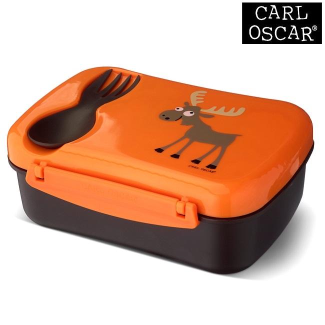 Termo madkasse med ske til børn Carl Oscar Nice Box Kids Orange Moose