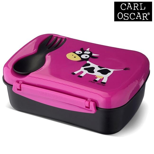Termo madkasse med ske til børn Carl Oscar Nice Box Kids Pink Cow