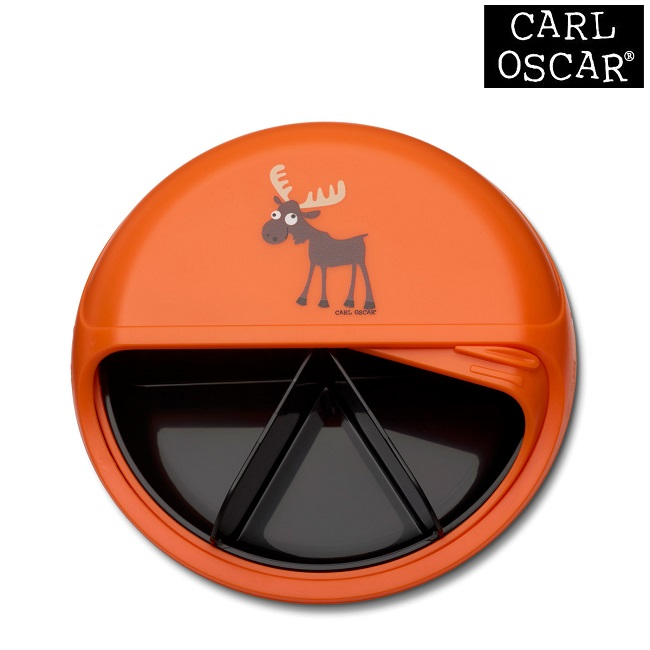 Madkasse til børn Carl Oscar SnackDISC Orange Moose