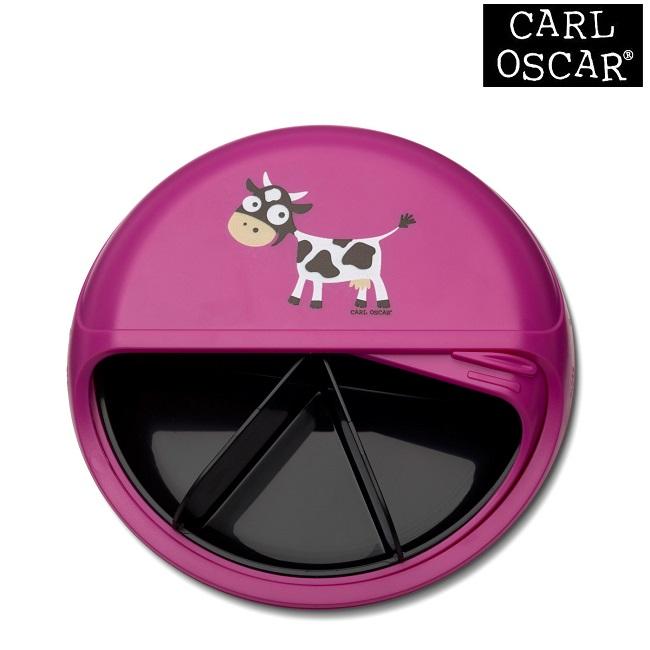 Madkasse til børn Carl Oscar SnackDISC Pink Cow