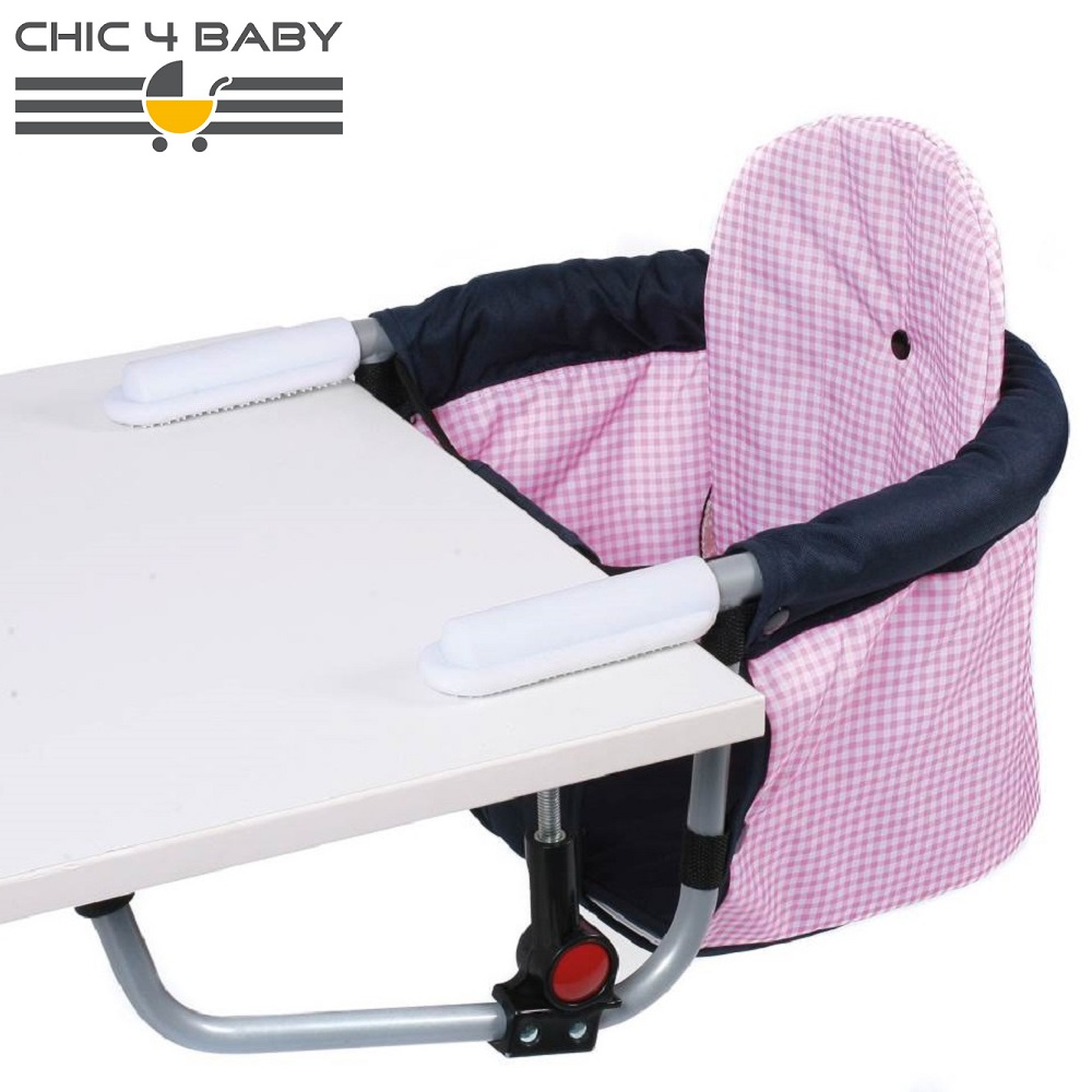 Rejsestol til børn Chic4Baby Pink Checkers