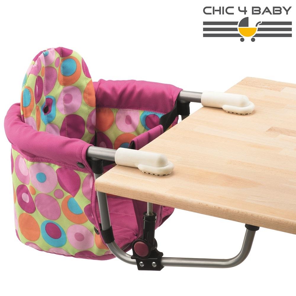 Rejsestol til børn Chic4Baby Pink Circles