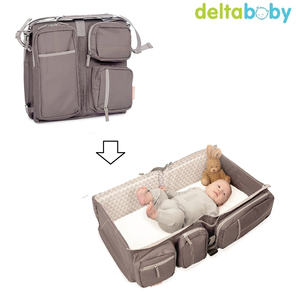 Pusletaske og rejseseng Delta Baby Taupe