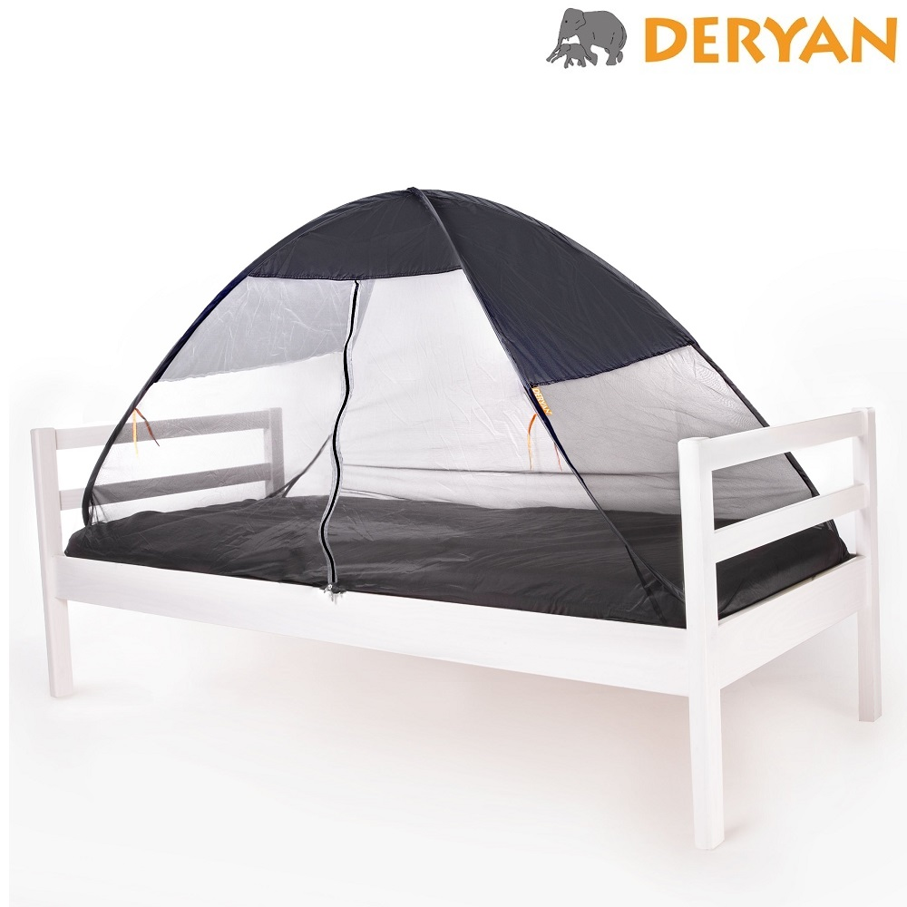 Myggenet og insektnet til seng Deryan Pop-up grå