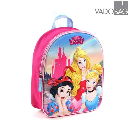 Rygsæk til børn Disney Princesses 3D lyserød