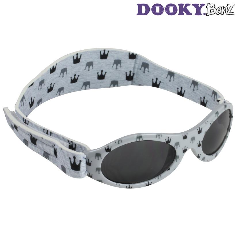 Solbriller baby DookyBanz Grey Crowns
