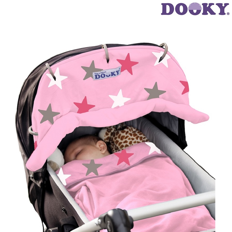 Solskærm til barnevogn Dooky Pink Stars