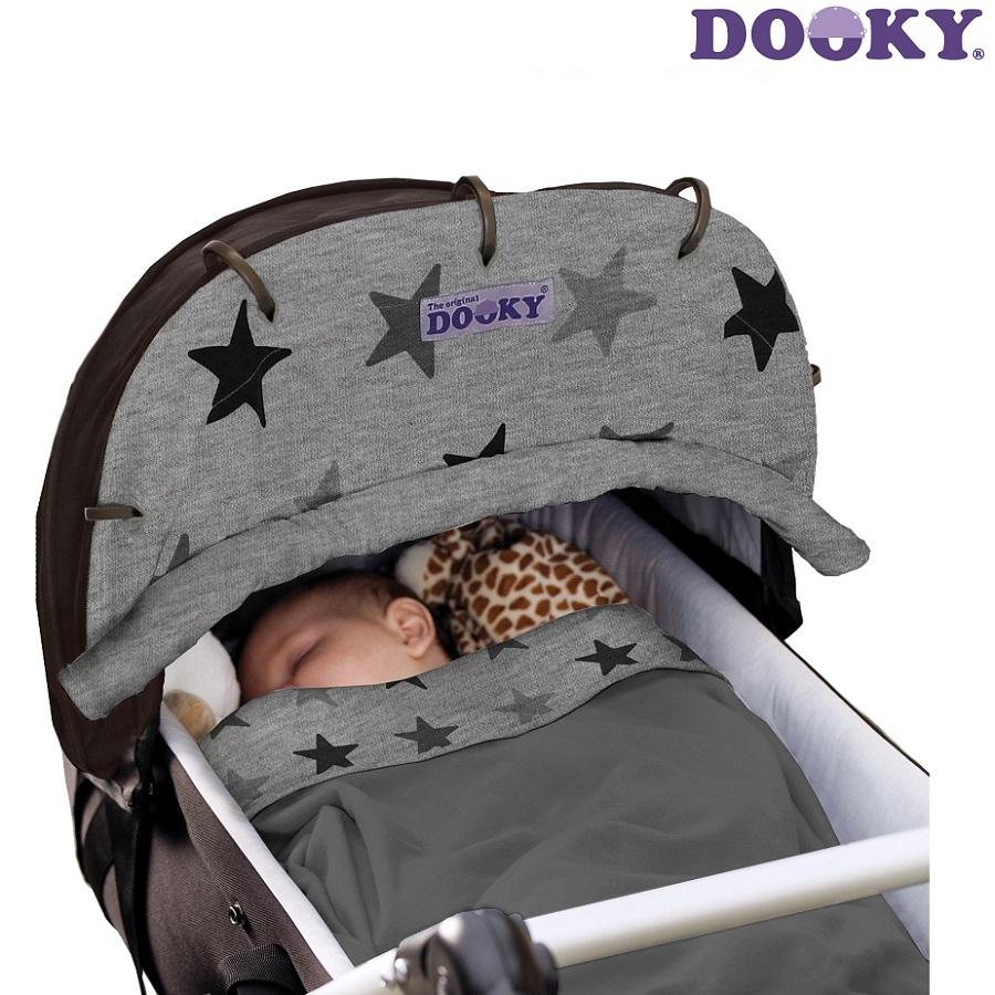 Solskærm til barnevogn Dooky Grey Stars