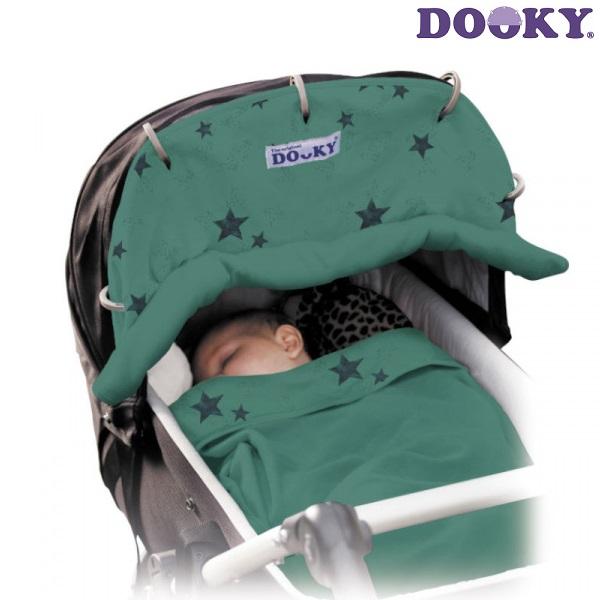 Solskærm til barnevogn Dooky Green Stars