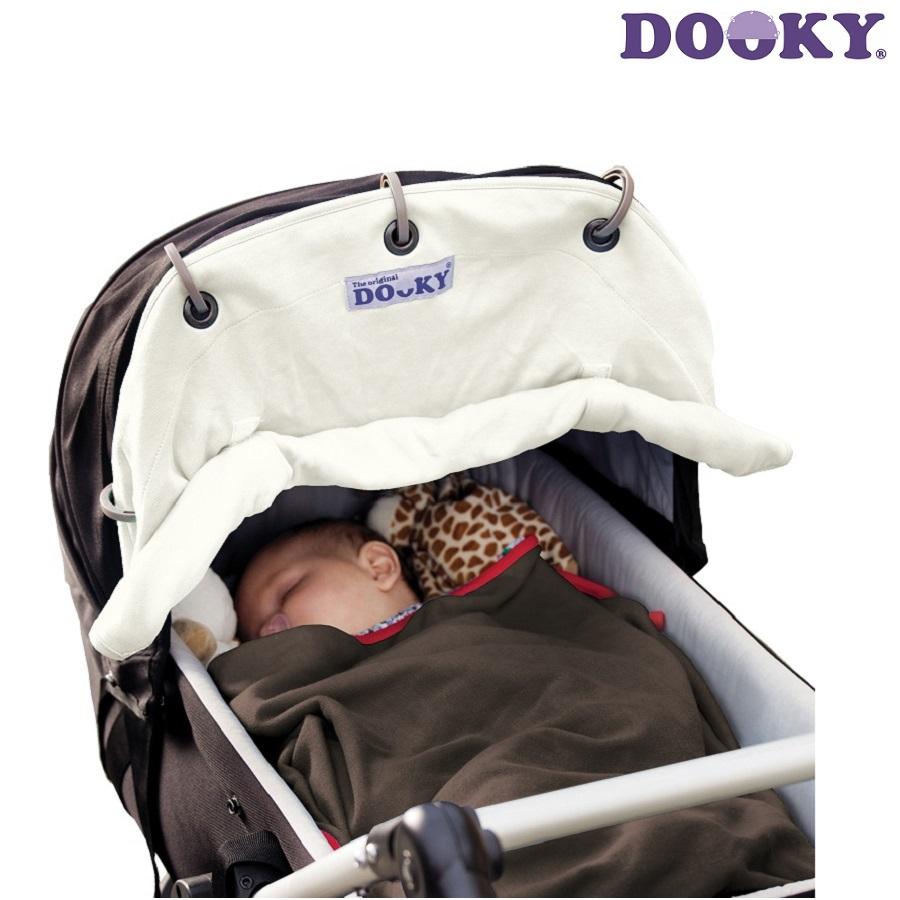 Solskærm til barnevogn Dooky Creme