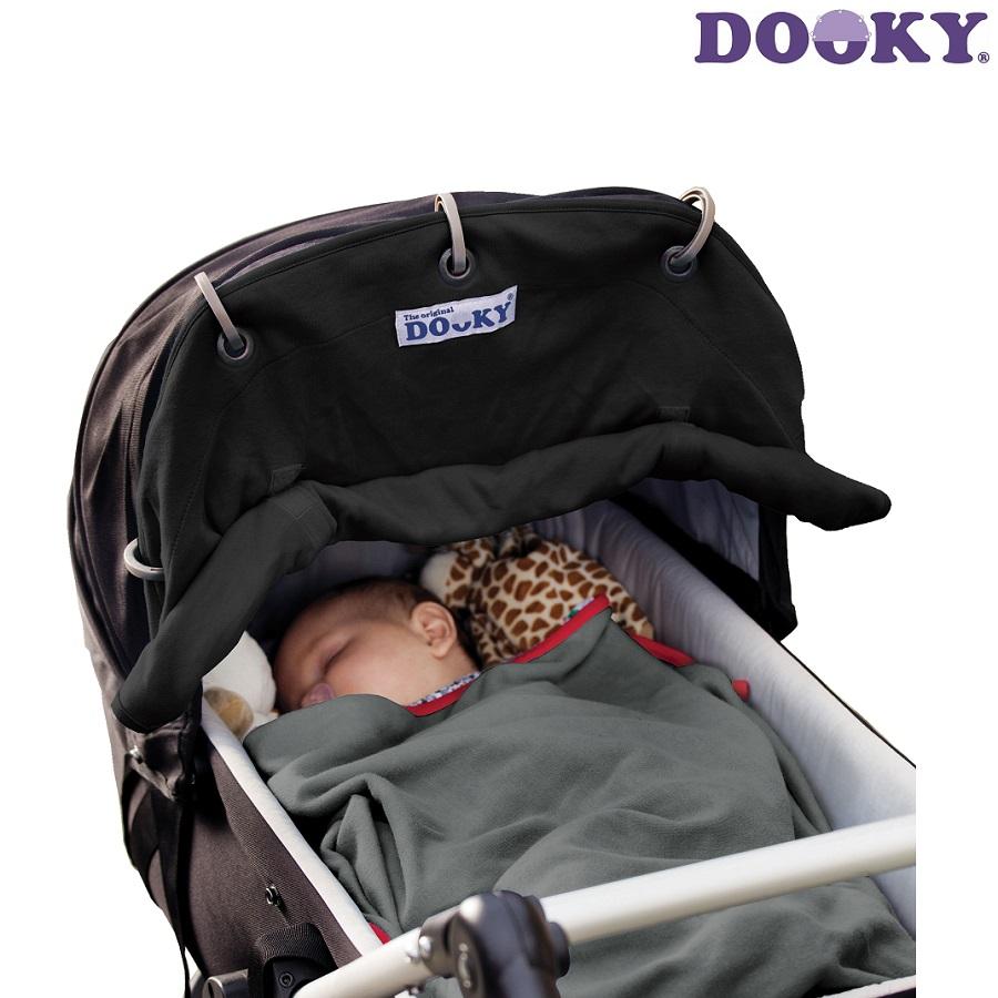Solskærm til barnevogn Dooky Sort