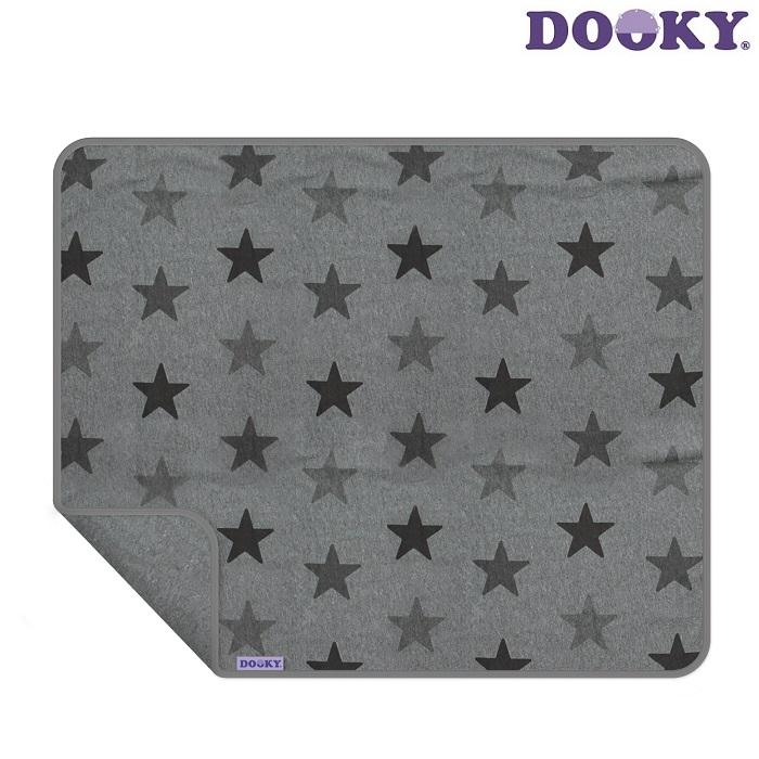 Babytæppe Dooky Pink Grey Stars
