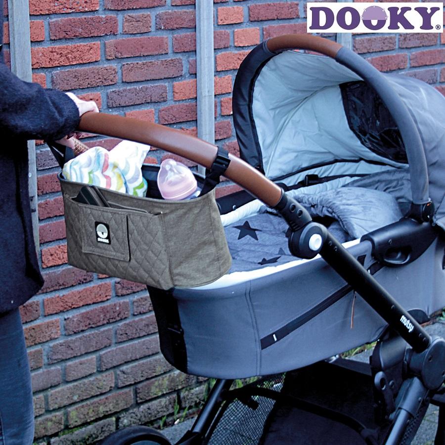 Barnevognstaske Dooky Grey Melange