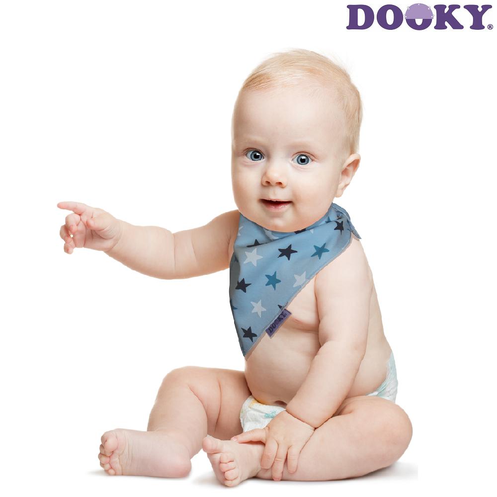 Hagesmæk Dooky Dribble Bib Blue Stars lyseblå