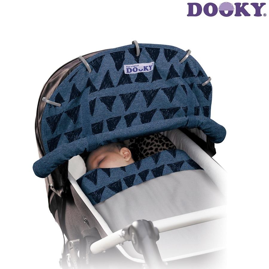 Solskærm barnevogn Dooky Blue Tribal