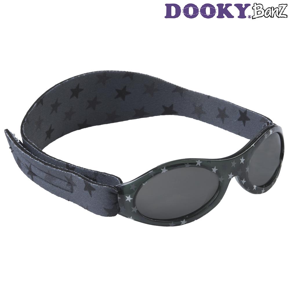 Solbriller baby DookyBanz Grey Stars