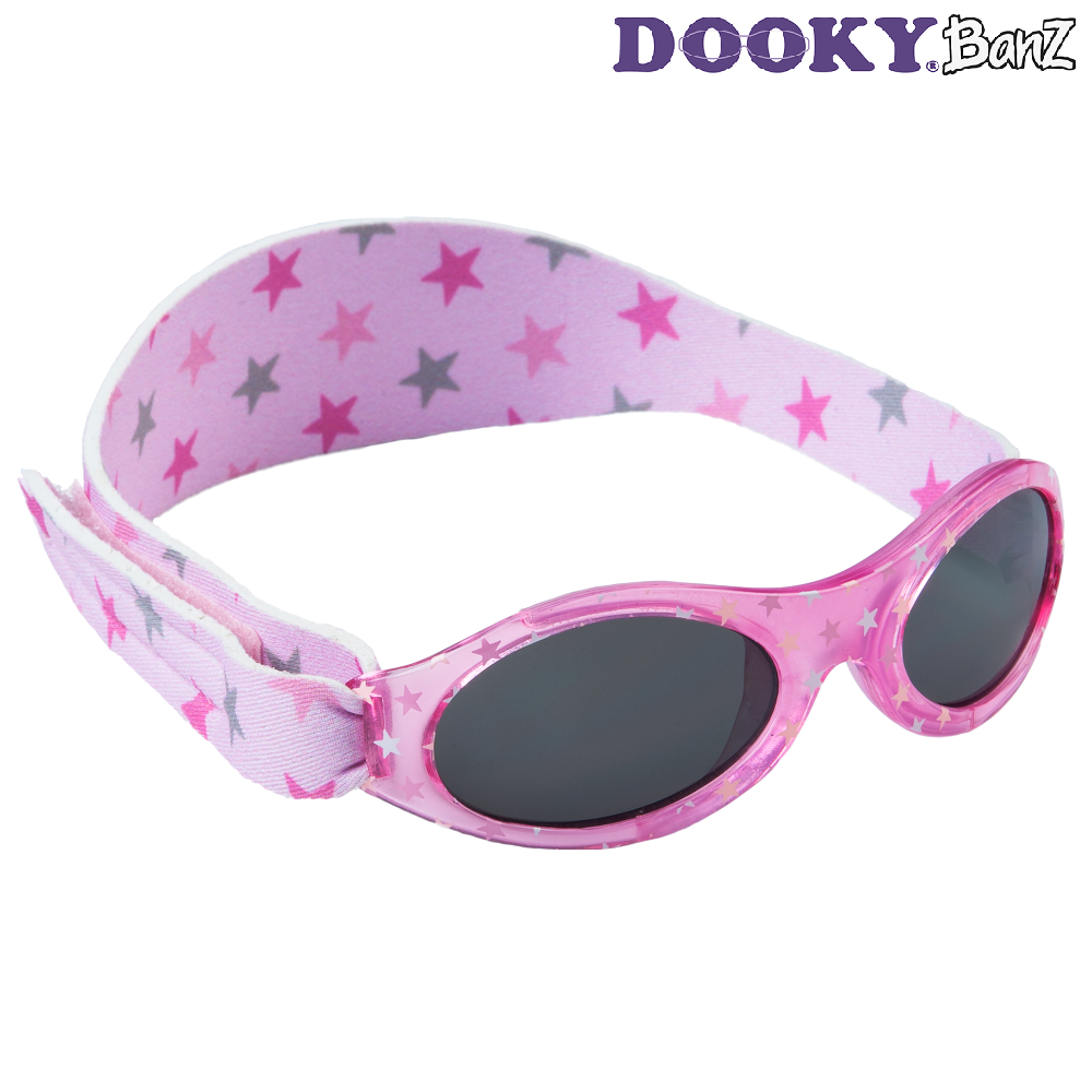 Solbriller baby DookyBanz Pink Stars
