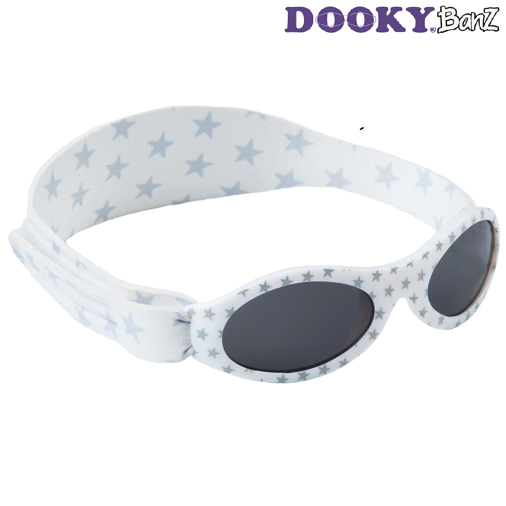 Solbriller baby DookyBanz Silver Stars