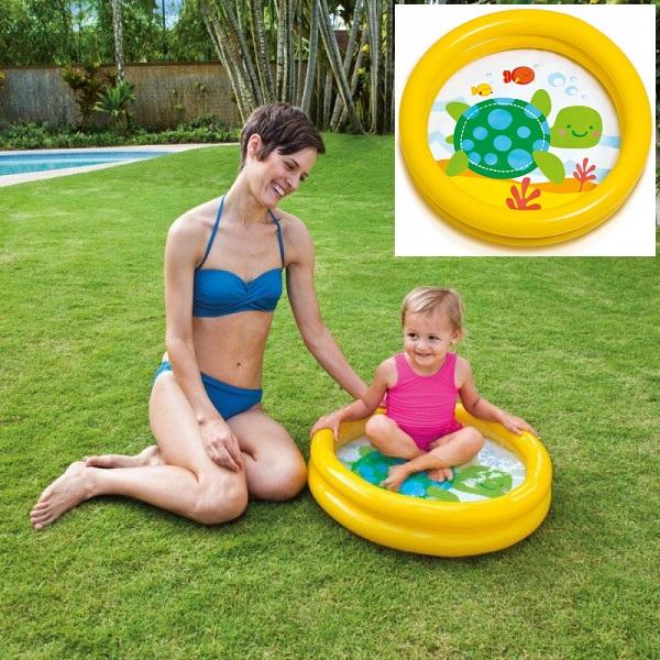 Oppustelig badebassin til børn Intex Skildpadde