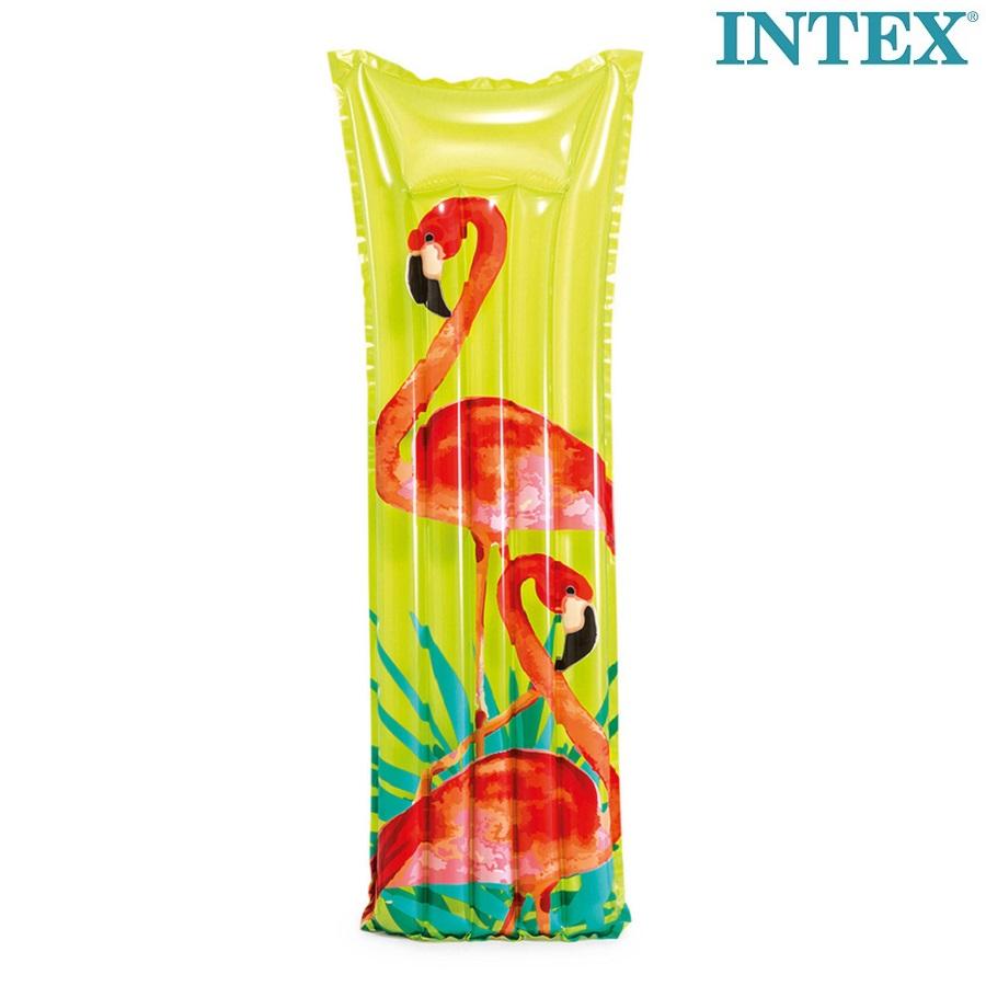 Luftmadras til børn Intex Tropical Flamingo