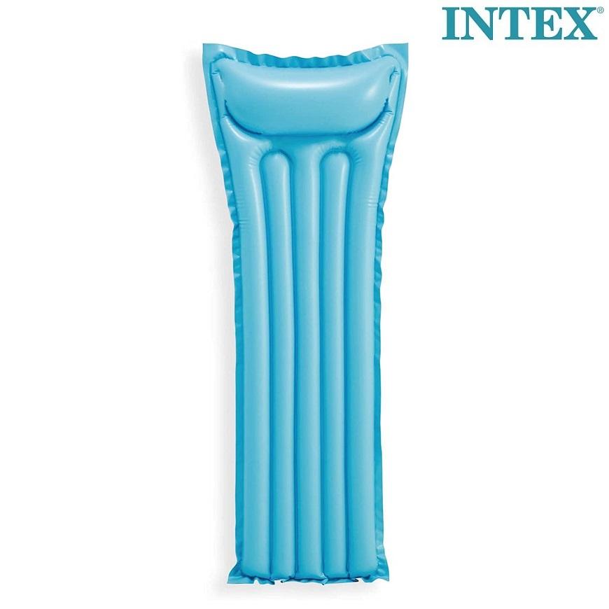 Oppustelig bade luftmadras Intex blå