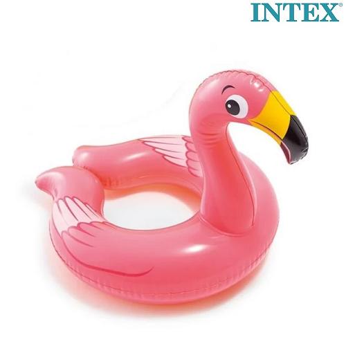 Oppusteligt badering og badedyr Intex Flamingo