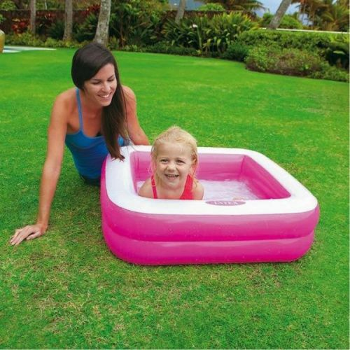 Oppustelig badebassin til børn Intex lyserød